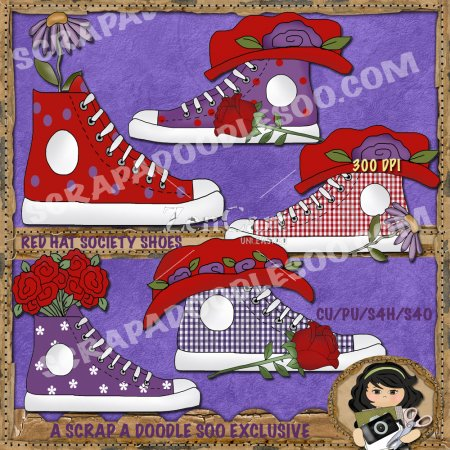 Red Hat Society Shoes Exclusive