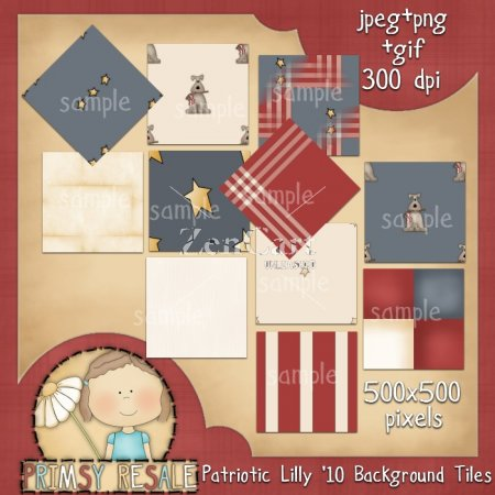 Patriotic Lily '10 Background Tiles