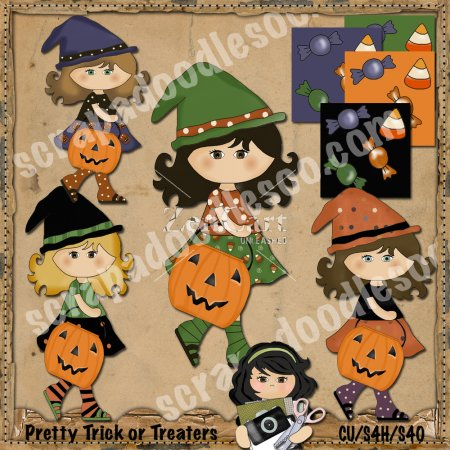 Pretty Trick or Treaters Exclusive