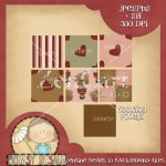 Valentine Bears Background Tiles