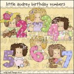 Little Audrey Birthday Numbers