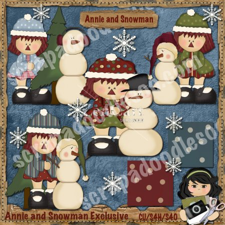 Annie and Snowman Exclusive