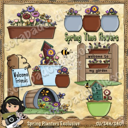 Spring Planters Exclusive