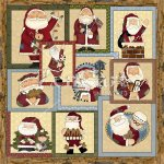 Santa Glass Block Graphics
