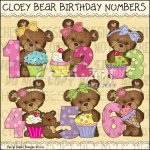 Cloey Bear Birthday Numbers