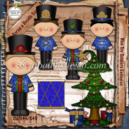 Blue Toy Soldiers Exclusive