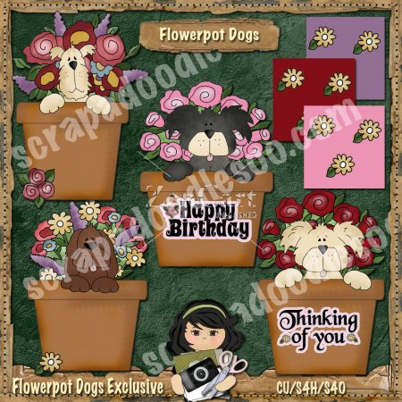 Flower Pot Dogs Exclusive