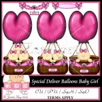 Special Delivery Balloons Baby Girl