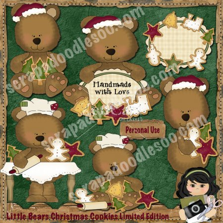 Little Bears Christmas Cookies Limited Edition