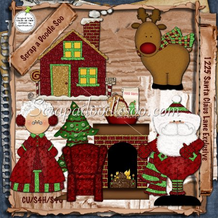 mrs santa claus clip art. 1225 Santa Claus Lane Exclusive includes 6 adorable Christmas graphics of 1