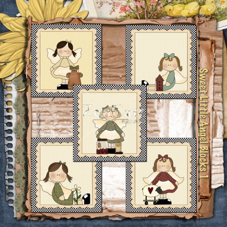 Sweet Little Angel Blocks 1