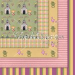 Blonde Princess Girls '10 -12x12 Background Papers