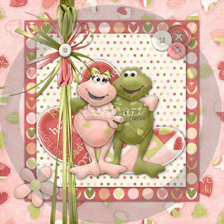Toadally In Love Glass Block Exclusive