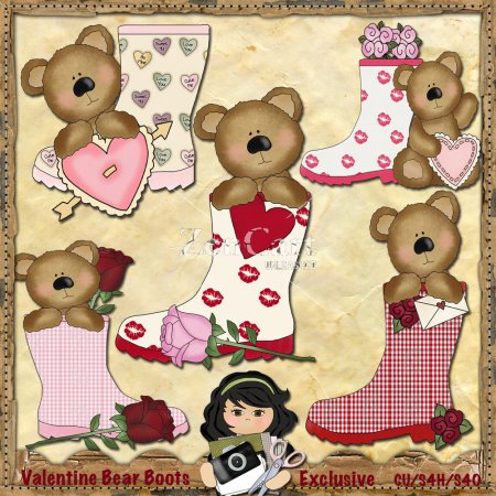 Valentine Bear Boots Exclusive