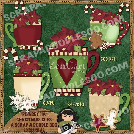 Poinsettia Christmas Cups Exclusive
