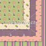 Girls Crosses -Green/Purple/Pink/Blue/Cream 12x12 Backgrounds