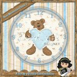 Teddy Bear Blue Clock Exclusive