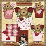 Valentine Bear Flowerpots Exclusive