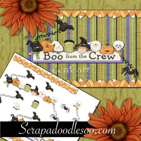 Boo from the Crew Decoupage 5x7 Card Front 1