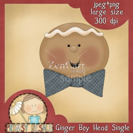 Ginger Boy Head