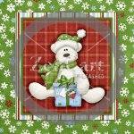 Beary Christmas Glass Block 2 Exclusive