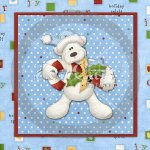 Beary Christmas Glass Block Exclusive
