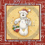 Beary Christmas Glass Block 3 Exclusive