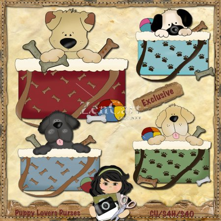 Puppy Lovers Purses Exclusive