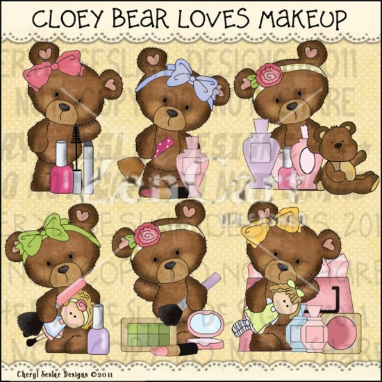 Cloey Bear Loves Makeup Exclusive - Click Image to Close