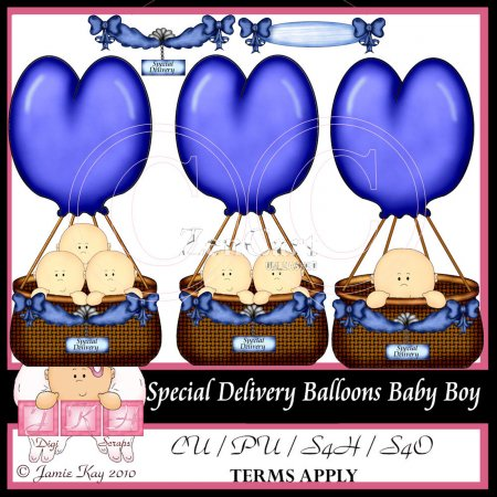 Special Delivery Balloons Baby Boy