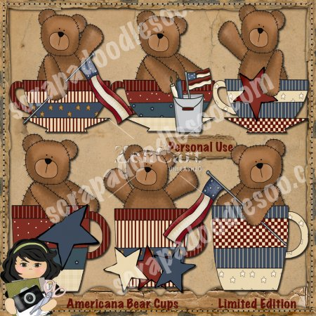 Americana Bear Cups Limited Edition