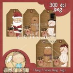 Reindeer Friends Hang Tags