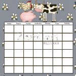 Country Livin Cow Calendar