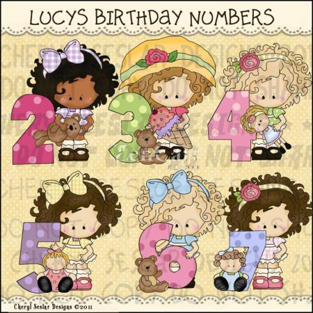 Little Lucy Birthday Numbers
