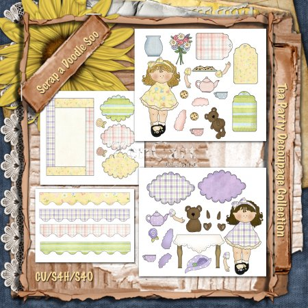Tea Party Decoupage Collection