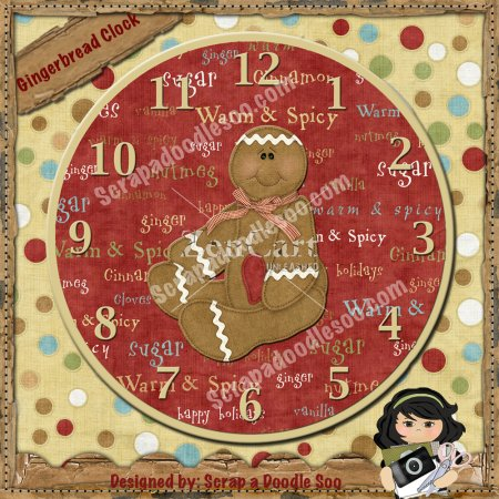 Gingerbread Clock Exclusive