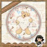 Bear Necessities Clock Exclusive
